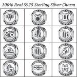 100% Real 925 Sterling Silver The zodiac Charm beads Fit Pandora Charms Bracelets & Bangles DIY Silver <b>Jewelry</b> <b>Making</b>