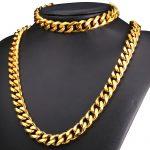 12MM Chunky <b>Jewelry</b> Sets Big Chain <b>Necklace</b> And Bracelet Black Gun/Gold Color Stainless Steel Dubai <b>Jewelry</b> Set Men GNH2282