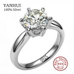 100% Real Solid Silver <b>Wedding</b> Rings for Women Set 8mm Sona CZ Diamant Engagement Ring 925 Pure Silver Rings Fine <b>Jewelry</b> JZR025
