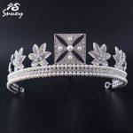 Snuoy Chic Vintage Maple Leaf Tiara Crowns Prom Pageant Hair Accessories Women <b>Wedding</b> Hair <b>Jewelry</b> Fashion Rhinestone Hairbands