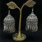 India Women's Cage Tassel Ancient Silver Long Earrings Retro <b>Handmade</b> Lslamic <b>Jewelry</b> Thailand, Nepal, Middle East <b>Jewelry</b>