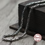 S925 Men's Sterling <b>Silver</b> <b>Necklace</b> Personality classics Simple and generous retro series Dragon shape chain Send a gift to love