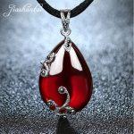 JIASHUNTAI Retro 925 <b>Silver</b> Sterling Pendant Necklace Female <b>Silver</b> <b>Jewelry</b> For Women Red Stone Flower Design