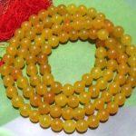 Tibetan <b>handmade</b> <b>jewelry</b> accessories 8mm Tibet Buddhism 108 Yellow stone Prayer Bead Mala necklace