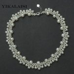 YIKALAISI 2017 100% Natural Freshwater Pearl Necklace 3-4mm,4-5mm,7-8mm Real Pearl 45 CM real <b>Silver</b> <b>Jewelry</b> For Women best gift