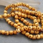 Tibetan <b>handmade</b> <b>jewelry</b> 108 Ox Bone Skull Beads Buddhist Prayer Mala Necklace silver