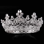 New Luxury Rhinestone Tiaras Queen Crown Wedding Hair Accessories Handmade Hair <b>Jewelry</b> Head Decorations Women Headpiece