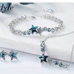 Cdyle Crystals From Swarovski S925 Sterling <b>Silver</b> jewelry Women Necklace <b>Bracelet</b> Earrings sets Valentine's Day Party Gift
