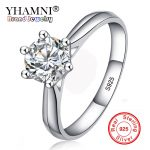 Lose Money 99% OFF! Fine <b>Jewelry</b> Original Natural 925 Silver Rings Solitaire 6mm 1ct Sona CZ Stone <b>Wedding</b> Rings For Women RL003