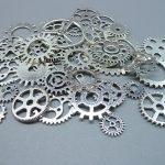 Wholesale Mix 100 pcs Vintage steampunk Charms Gear Pendant <b>Antique</b> Silver Fit Bracelets Necklace DIY Metal <b>Jewelry</b> Making
