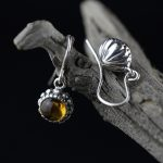 L&P Natural Amber&Topaz Handmade Earrings For Women 925 <b>silver</b> Drop Earrings Fine <b>Jewelry</b> Pendant Birthday gift