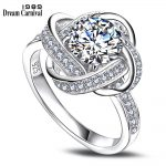 DreamCarnival 1989 Hot Gift for Girlfriend Anillo Mujer White Cubic Zircon <b>Jewelry</b> Size 5 – 9 Sterling Silver Women Ring SJ24384