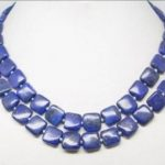 Natural 2 rows akoya cultured freshwater round pearl square lapis lazuli gems diy necklace <b>making</b> 18-20 inch BV345
