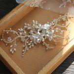 Jonnafe Silver Color <b>Wedding</b> Hair Clip Comb Shine Rhinestone Bridal Hair Piece Accessories Hand wired Women Hair <b>Jewelry</b>
