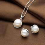 Sinya Natural pearls earring pendant necklace <b>jewelry</b> set for women girl wife in 925 <b>sterling</b> <b>silver</b> AAAAA Pearls diameter 11mm