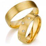 <b>handmade</b> Gold Plating CZ diamonds titanium <b>jewelry</b> Wedding Couples Ring Sets