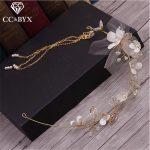 CC <b>Jewelry</b> Wedding Decorations Hair Ornaments Bridal Hair Accessories Bride Tiara Flowers <b>Handmade</b> For Women Beads Jewellry 0988
