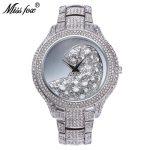 Miss Fox Top Fashion Wrist Watch Women Watches Ladies Luxury Crystal Diamond <b>Bracelet</b> Big Face <b>Silver</b> White Watch For Female