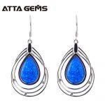 Blue Opal <b>Sterling</b> <b>Silver</b> Drop Earrings For Women Special Design Party <b>Silver</b> <b>Jewelry</b> Birthday Gifts Blue Opal <b>Silver</b> Earring