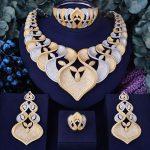 GODKI Super Luxury Geometry Flower Women <b>Wedding</b> Cubic Zirconia Choker Necklace Earring Dubai <b>Jewelry</b> Set Jewellery Addict
