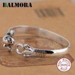 BALMORA Genuine 925 <b>Sterling</b> <b>Silver</b> Cute Cat Animal Bangles for Women Lover Party Gift <b>Sterling</b> <b>Silver</b> <b>Jewelry</b> Bijoux SZ0132
