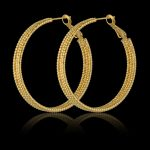 Creole Earrings For Women Basketball Wives Matte Trendy Gold Color <b>Fashion</b> <b>Jewelry</b> Circle Hoop Earrings Female Earrings