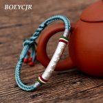 Tibetan Buddhism Bangles & Bracelets Fashion <b>Jewelry</b> <b>Handmade</b> 925 Silver Amulet Braided Rope Bracelet for Men For Women