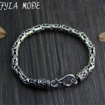 5MM Width Male <b>Bracelet</b> 925 Sterling <b>Silver</b> Bangles Men Jewelry Thai <b>Silver</b> Rope Chain 19CM 22CM Fine Present For Boyfriend