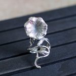 S925 sterling silver <b>jewelry</b> wholesale Thailand <b>handmade</b> lady flower ring