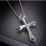 Skull Cross Pendant Necklace Eeligious Titanium Steel Men's <b>Jewelry</b> <b>Antique</b> Silver Polished Proof Water Drop Shipping, LP1077