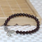 Wholesale price women beaded bracelets natural garnet round beads 6mm elegant new arrival free shpping <b>jewelry</b> <b>making</b> B2101