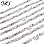 WK Solid 925 Sterling <b>Silver</b> Chain Male Men Boys Long Thick Chains <b>Necklace</b> Jewelry Collar 4MM 5MM 6MM 18 20 22 24 Inch W3 NM006