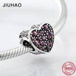 Real dark Red bubble zircon beads 925 Sterling Silver for <b>jewelry</b> <b>making</b> Fit Original Pandora Charm Bracelets Bangles