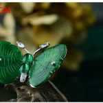 925 <b>sterling</b> <b>silver</b> chalcedony butterfly high-grade corsage <b>jewelry</b>
