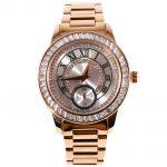 MATISSE Lady Austria Crystal Dial & Bezel Steel Strap Fashion Quartz Watch – <b>Silver</b>