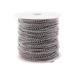 2018 Promotional 100 Meters Most Popular Size 2.4mm 304 Stainless Steel Ball Chain Spool With Connector for <b>Jewelry</b> <b>Necklace</b>