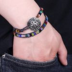 Boho Multicolor Beads Bracelet Double Layer Vintage Bracelets Summer Beach <b>Jewelry</b> <b>Accessories</b> for Men And Women