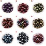 Fashion <b>Jewelry</b> 100Pcs/Lot 20MM Resin Round Black Beads With Mix Color Polka Dot Beads For Chunky <b>Handmade</b> <b>Jewelry</b> CD-RPB-20MM