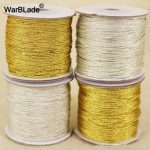 High Quality 88m 0.8mm 1mm Gold and Silver Cord Nylon Cord Plastic Thread String Rope Bead DIY Braided Bracelet Necklace <b>Making</b>