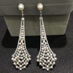 Vintage natural fresh water pearl drop earring 925 <b>sterling</b> <b>silver</b> with cubic zircon and tiny pearl fashion women <b>jewelry</b>