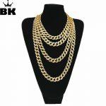 Hip Hop Gold Silver 15mm Choker Cuban Chain Mens 18inch 20inch 24inch 30inch Miami Cuban Link Chain BlingBling <b>Jewelry</b>