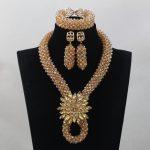 New Design African Crystal <b>Handmade</b> <b>Jewelry</b> Sets Champagne <b>Jewelry</b> Beads Set Bridal Wedding <b>Jewelry</b> Set Free ShippingABL948