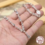 S925 <b>sterling</b> <b>silver</b> men's necklace personality fashion classic <b>jewelry</b> punk style cross tail shape 2018 new gift to send lover