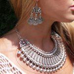 Yumfeel <b>Antique</b> Silver Bohemian Style Gypsy Love Affair Metal Flower Ball Long Pendant Statement Necklaces Boho <b>Jewelry</b> Choker