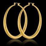 Minimalism Golden <b>Fashion</b> Large Big Circle Hoop Earrings Matte Gold Color Circle Round Loops Earrings For Ladies <b>Jewelry</b>