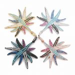 LOULEUR Colorful Copper Micro Pave Zircon CZ Starfish Shaped Pendant For Women Charms Necklace Earrings DIY <b>Jewelry</b> <b>Making</b>