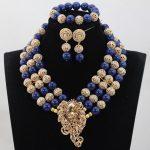 Unique Royal Blue Coral Beads <b>Jewelry</b> sets Nigerian African Wedding Bridal/Women Beads <b>Necklace</b> <b>Jewelry</b> Set Free Shipping CJ851