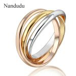 Nandudu 3-in-1 Ring Three Colors Special Design New Fashion Women Female Rings <b>Jewelry</b> Gift <b>Accessories</b> R1433