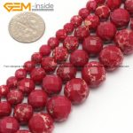 Gem-inside Round Faceted Dark Red Crazy Lace Agates Beads For <b>Jewelry</b> <b>Making</b> 6-12mm 15inches DIY Jewellery