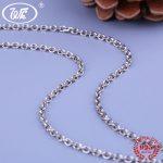 WK Retro 925 Thai <b>Silver</b> 3MM Thick Link Chain <b>Necklace</b> 18 Inch 45 CM Gothic Punk Vintage <b>Silver</b> 925 Chains Jewelry 8.1g W4 NA045